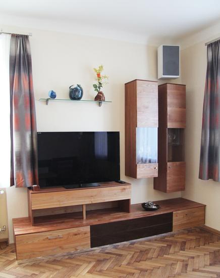 fernseher im wohnzimmer integrieren ferienwohnung groer bernstein. Black Bedroom Furniture Sets. Home Design Ideas